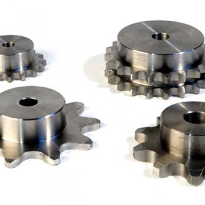 The main difference between double pitch sprocket and gear
