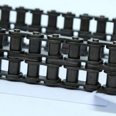 What is the difference between a double-pitch chain and a single-pitch chain?