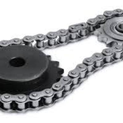 Movement between sprocket and chain